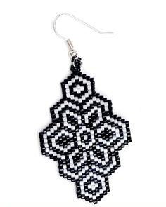 How to attach beaded piece to the earrings clasps