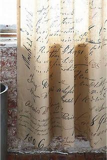 script curtains...a reader's dream