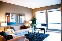 This is our product. #SteelandConcrete #NewConstruction #Condo #YEG #livingroom #cozy