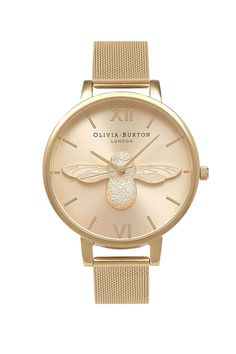 61729254a9a2   Moulded Bee Watch by Olivia Burton - Topshop Olivia Burton Bee Watch