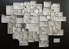 Elementary art project - study of louise nevelson-love this idea as a group project--as an add-on, bring from home, assemblage, reuse, recycle project. could then paint white to practice paintbrush skills. maybe a center on the side?