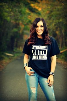 Straight Outta the Ring Stock Show Tee perfect for FFA, 4H, Stock Show and Stock Show Moms
