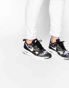 Nike - Thea - Scarpe da ginnastica nero con stampa