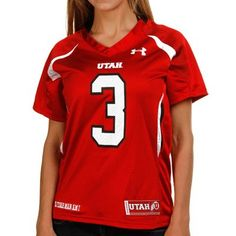 Under Armour Utah Utes #3 Women's Replica Football Jersey - Red    Ladies, you'll be the belle of Utah football when you represent the Utes in this feminine-cut replica football jersey by Under Armour.