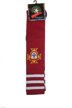 Portugal Red FPF Logo Soccer World Cup Socks  Adult Size  New *** To view further for this item, visit the image link.Note:It is affiliate link to Amazon.