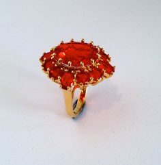 Vintage Gold Vermeil Ruby Estate Ring Red by WOWTHATSBEAUTIFUL