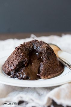 Flourless Chocolate Lava Cakes | TheBestDessertRecipes.com