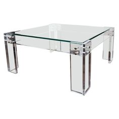 38 Best Modern Lucite Glass And Brass Coffee Tables Images