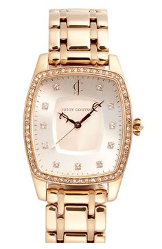 Juicy Couture 'Beau' Crystal Accent Bracelet Watch available at #Nordstrom