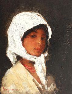 Nicolae Grigorescu - Ţărăncuţă cu broboadă albă Portraits, Portrait Paintings, Life Drawing, Monet, Fantasy Art, Art Gallery, Old Things, Sculpture, Drawings