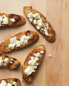 Grilled Bread with Cotija - Martha Stewart Recipes