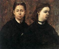 Edgard Degas - Double portrait - Huile sur toile, 57 x 70 cm - 1865 - Wadsworth Atheneum, Hartford