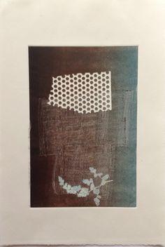 Untitled (Kimono): Monoprint on Stonehenge paper. Image size 12.5cm x 19cm. SOLD