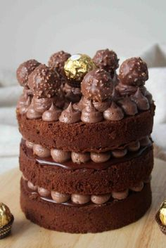 Chocolate Ferrero Rocher Layer Cake