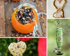 DIY Bird Feeders Valentine's Day Ideas | Sustainable Crafts For Your Love (Great For Country Girls) - DIY Craft Tutorials by Pioneer Settler at http://pioneersettler.com/valentines-day-ideas-crafts/