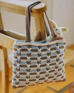 Crochet Bag - Free Crochet Diagram - (easy-crochet.blogspot)