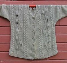 Ravelry: Leaves Jacket pattern by Elaine Phillips - free
