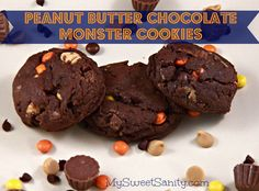 Peanut Butter Chocolate Monster Cookies