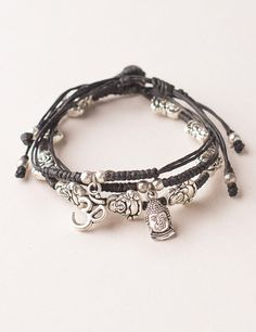 Sivana — Limited Edition Happy Buddha Om Bracelet Set http://mbsy.co/c8Pd8