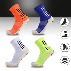 Buy Thickened Sports Fitness Climbing Running Breathable Moisture Wicking Cotton Socks Wear- resistant Anti Slip For Men Hiking Socks, Cotton Socks, Climbing, Rubber Rain Boots, Running, Classic, Fitness, Sports, How To Wear
