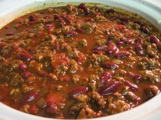 Linda's Prize Winning Chili Recipe This chili won place in a chili cook-off when I worked at the telephone company. It is my own original recipe and one I am very proud to share! This is a big batch of chili and fills a quart crock pot. Best Chili Recipe, Chilli Recipes, Mexican Food Recipes, Crockpot Recipes, Soup Recipes, Cooking Recipes, Dutch Oven Chili Recipe, Chili Recipe With Smoked Paprika, Chili Recipe For 25 People