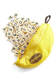 The coolest fashion company in the world sells what? Bananagrams. #play These I'll probably buy for myself...;)