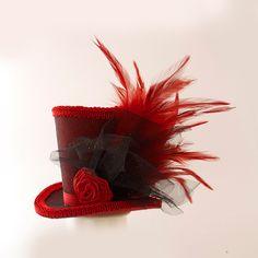 Burlesque Alice in Wonderland Mad Hatter di MiniTopHatBoutique