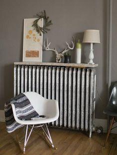 My Living Room, Small Living, Living Room Decor, Living Spaces, Radiator Cover, Radiator Shelf, Radiator Ideas, Kitchen Radiator, Home And Deco