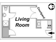 Paris Studio apartment - apartment layout  (PA-3177)