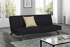 Premium Echo Convertible Sofa Futon, Rich Black Linen Cou... https://www.amazon.com/dp/B0154ACWWY/ref=cm_sw_r_pi_dp_x_zGmjybT1VPT11