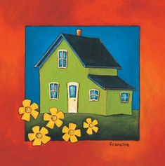 Laminages - La Banquise du Golfe Galerie D'art, Watercolour Painting, Card Ideas, Houses, Coffee, Illustration, Inspiration, Image, Dolphins