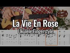 La Vie En Rose - Ukulele Fingerstyle - YouTube Ukulele Fingerpicking, Ukulele Chords Songs, Printable Tabs, Music Classroom, 3 D, Learning, Youtube, Studying, Music Education