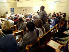 Question and answer time during an A Rocha / Lausanne conference in Paris during COP21 looking at a Christian response to climate change held in St Michael's Church. Photo by Brian Kaylor.