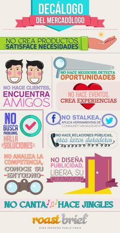 Hola: Una infografía con un Decálogo del profesional de Marketing. Un saludo