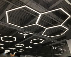 Our Hex and Y luminaires are a firm favourite. Manufactued in-house using our Tron Linear, the possibilities are endless! Led Track Lighting, Linear Lighting, Lighting Design, Led Lighting Solutions, Cylinder Shape, Trafford, Store Design, Manchester, House
