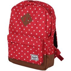 HERSCHEL SUPPLY CO Heritage Kids Backpack red polka dot - He ...