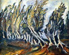 bofransson:  Poplars Chaim Soutine - circa 1919