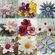 Neli Quilling, Quilling Jewelry, Ideas Quilling, Quilling Flowers Tutorial, Quilling Work, Paper Quilling Flowers, Quilling Paper Craft, Quilling Patterns, Quilling Designs