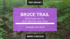 Hiking Bruce Trail: