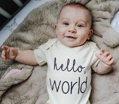 Hello World Black Organic Baby Onesie®