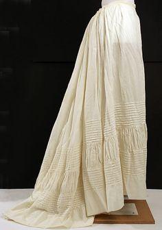 Petticoat Date: 1860–65 Culture: American Medium: linen