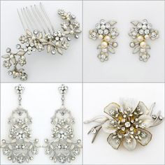 Paris by Debra Moreland. Romantique, delicate, vintage bridal accessories so pretty with lace, redefining Bohemian Glam. Our newest bridal hair accessories, jewelry, earrings & headpieces from this unique boho chic collection.