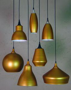 copper ecorated glass pendants