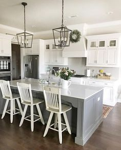 Kitchen accessories and decor ideas kitchen remodel ideas images,new kitchen photos best small kitchen layout plans,planning a new kitchen layout rustic kitchen ideas on a budget. Farmhouse Kitchen Lighting, Farmhouse Style Kitchen, Modern Farmhouse Kitchens, Home Decor Kitchen, New Kitchen, Home Kitchens, Kitchen Dining, Kitchen Ideas, Awesome Kitchen