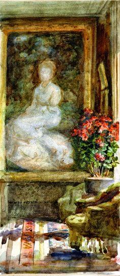 Marie Bracquemond - Intérieur d'un salon