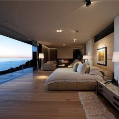 Dream bedroom design 😍 via   Design by Peerutin Architects   Luxury Homes Dream Houses, Dream House Interior, Dream Home Design, Modern House Design, Luxury Interior, My Dream Home, Interior Design, Interior Decorating, Decorating Ideas