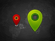 #Shiny #little #map #pins #free #psd #downloads
