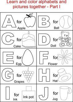 9 Kids Ideas Preschool Coloring Pages Abc Coloring Pages Alphabet Worksheets Kindergarten
