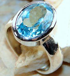 | Blue Topaz Ring : Blue Topaz Sterling silver Ring |