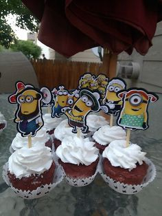 Despicable Me 2 Cupcake Toppers Birthday Party by GetSprinkled, $10.00